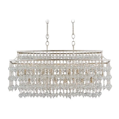 Currey and Company Lighting Currey and Company Rainhill Silver Granello / Mist Island Light 9864