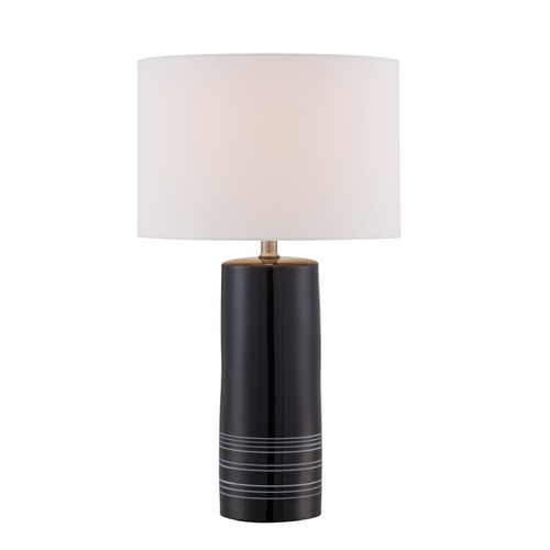 Lite Source Lighting Lite Source Lunette Black Table Lamp with Drum Shade LS-22885