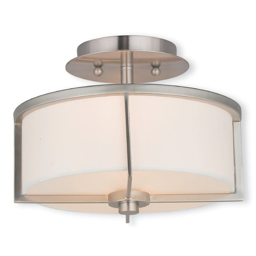 Livex Lighting Livex Lighting Wesley Brushed Nickel Semi-Flushmount Light 51072-91