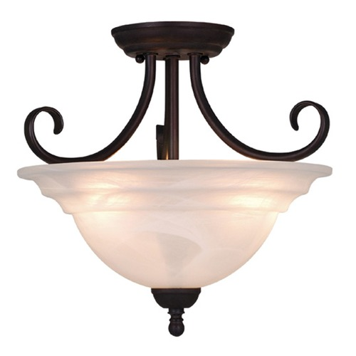 Vaxcel Lighting Babylon Oil Burnished Bronze Semi-Flushmount Light by Vaxcel Lighting CF65353OBB