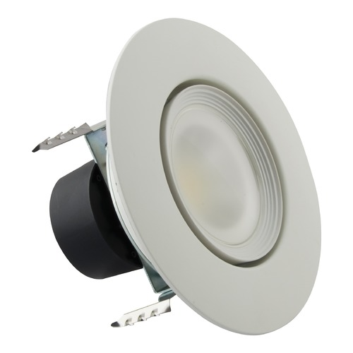 Satco Lighting Satco 4 Inch 7.5W Color Selectable LED Recessed Gimbal Retrofit 600LM 90CRI S11822