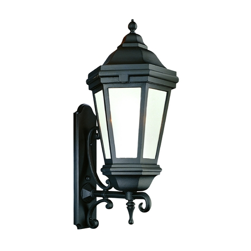 Troy Lighting Outdoor Wall Light with Clear Glass in Bronze Patina Finish BFCD6834BZP
