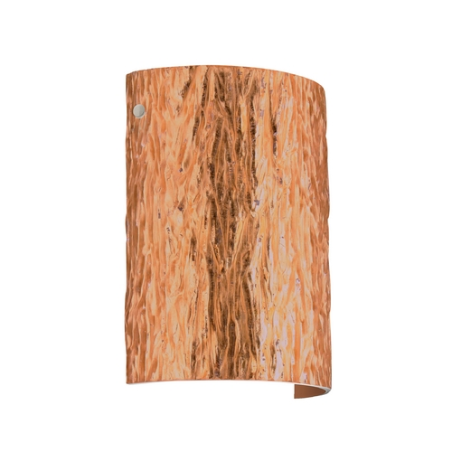 Besa Lighting Modern Sconce Wall Light with Copper Glass in Satin Nickel Finish 7090CF-SN