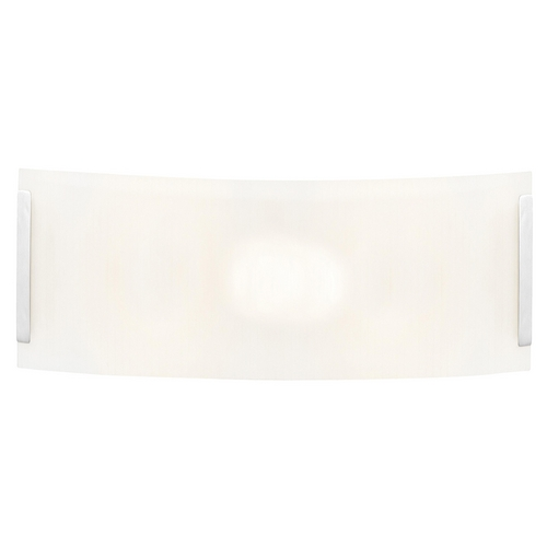 Access Lighting Modern Bathroom Light with White Glass in Brushed Steel Finish 62231-BS/LFR
