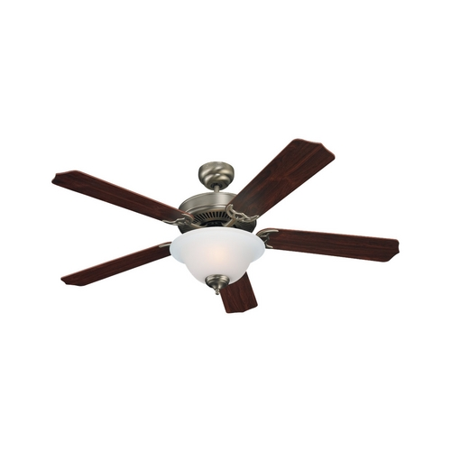 Sea Gull Lighting Ceiling Fan with Light in Antique Brushed Nickel Finish 15030BLE-965