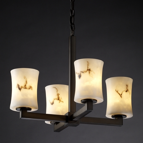 Justice Design Group Justice Design Group Lumenaria Collection Mini-Chandelier FAL-8829-60-DBRZ
