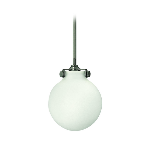 Hinkley Lighting Mini-Pendant Light with White Glass 3133AN