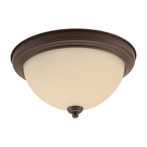 Sea Gull Lighting Sea Gull Lighting Ceiling Flush Mount Misted Bronze Flushmount Light 79163BLE-814