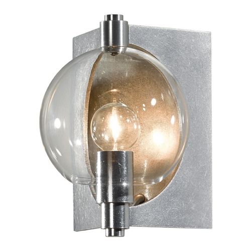 Hubbardton Forge Lighting Hubbardton Forge Lighting Pluto Vintage Platinum Sconce 207450-82-ZM436