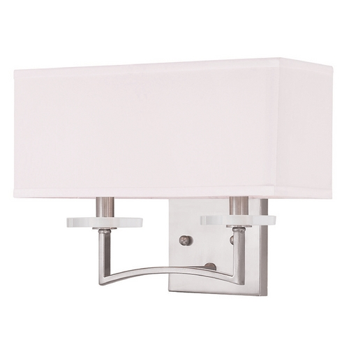 Livex Lighting Livex Lighting Woodland Park Brushed Nickel Sconce 50702-91