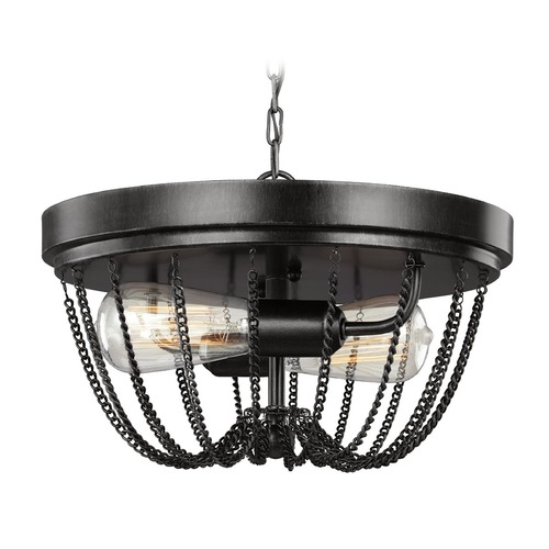 Sea Gull Lighting Sea Gull Lighting Kelvyn Park Stardust Flushmount Light 7510102-846