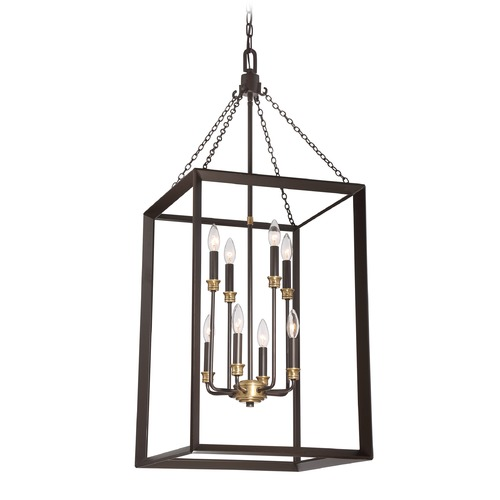 Quoizel Lighting Quoizel Lighting Brook Hall Western Bronze Pendant Light BKH5208WT