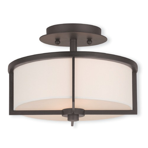 Livex Lighting Livex Lighting Wesley Bronze Semi-Flushmount Light 51072-07