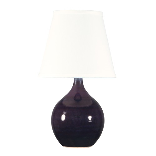 House of Troy Lighting House Of Troy Scatchard Eggplant Table Lamp with Empire Shade GS50-EG