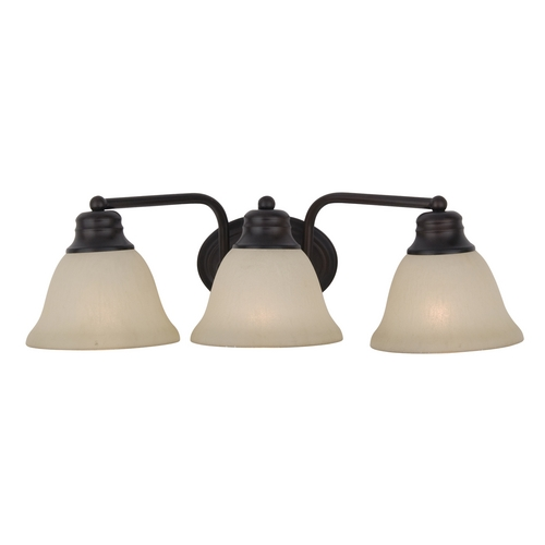 Maxim Lighting Bathroom Light with Beige / Cream Glass in Oil Rubbed Bronze Finish 2688WSOI