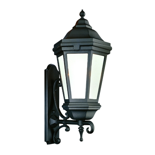 Troy Lighting Outdoor Wall Light with Clear Glass in Matte Black Finish BFCD6834MB