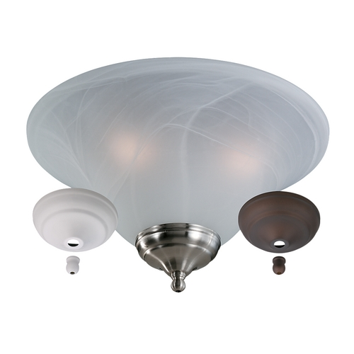 Monte Carlo Fans Light Kit in White Faux Alabaster Finish MC04-L