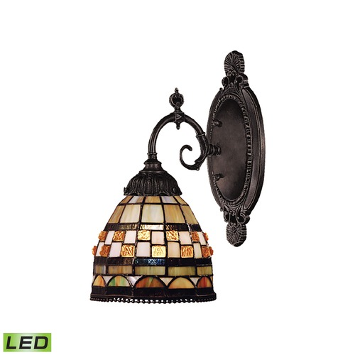 Elk Lighting Elk Lighting Mix-N-Match Tiffany Bronze LED Sconce 071-TB-10-LED