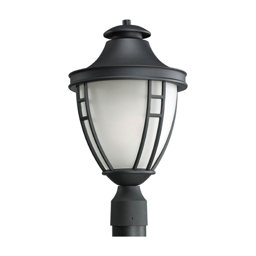 Progress Lighting Post Light with White Glass in Black Finish P5489-31