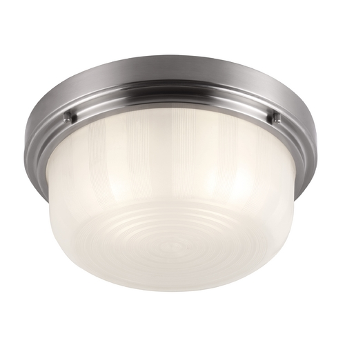 Feiss Lighting Feiss Lighting Elliot Brushed Steel Flushmount Light FM381BS