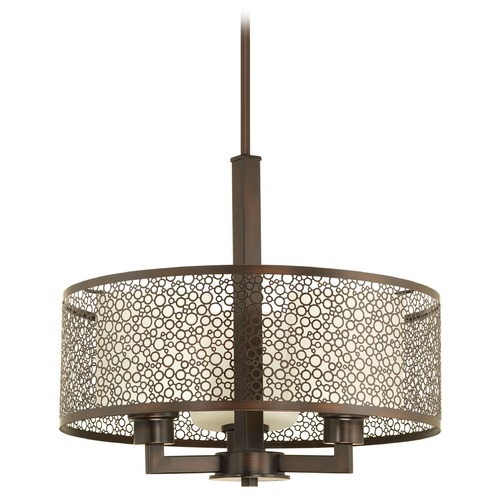 Progress Lighting Progress Lighting Mingle Antique Bronze Pendant Light with Cylindrical Shade P5155-20