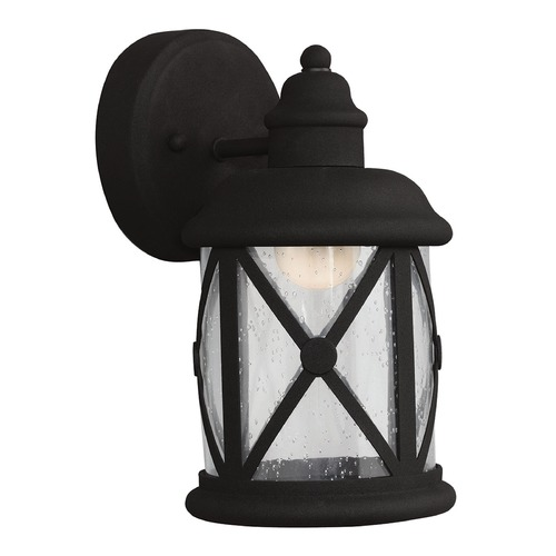 Sea Gull Lighting Sea Gull Lighting Lakeview Black LED Outdoor Wall Light 8521492S-12