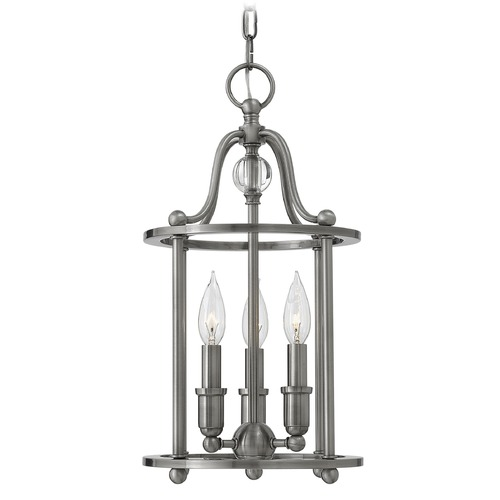 Hinkley Lighting Hinkley Lighting Elaine Polished Antique Nickel Pendant Light 4353PL