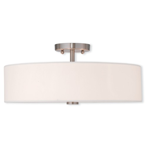 Livex Lighting Livex Lighting Brighton Brushed Nickel Semi-Flushmount Light 51055-91