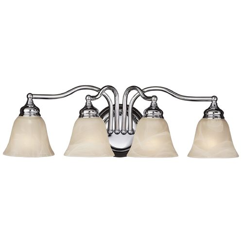 Feiss Lighting Bathroom Light with Alabaster Glass in Chrome Finish VS6704-CH
