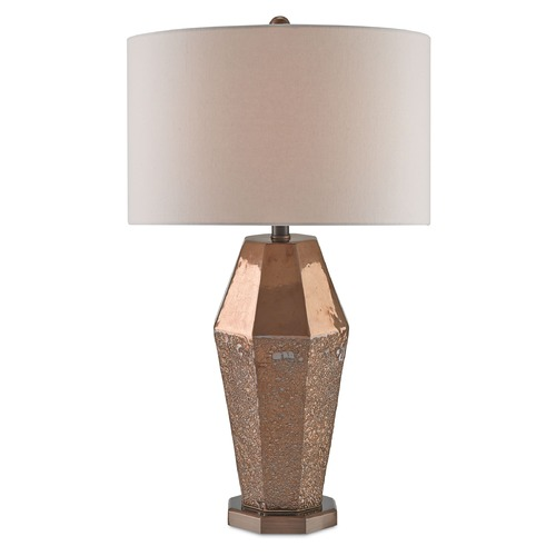 Currey and Company Lighting Currey and Company Lamartine Burnt Gold/chalk Burnt Gold Table Lamp with Drum Shade 6181