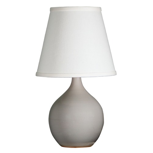 House of Troy Lighting House Of Troy Scatchard Gray Gloss Table Lamp with Empire Shade GS50-GG