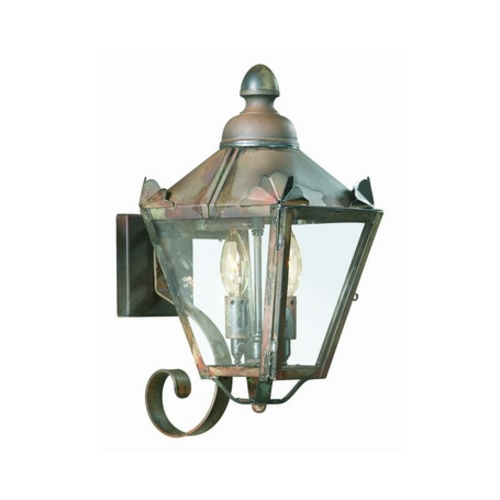 Troy Lighting Outdoor Wall Light with Clear Glass in Charred Iron Finish B8940CI