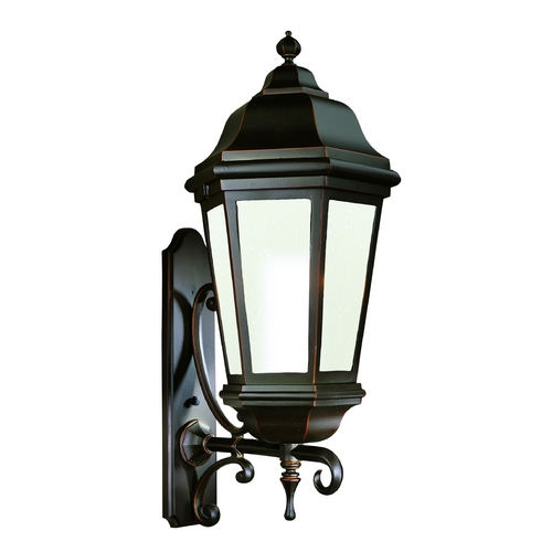 Troy Lighting Outdoor Wall Light with Clear Glass in Bronze Patina Finish BFCD6836BZP