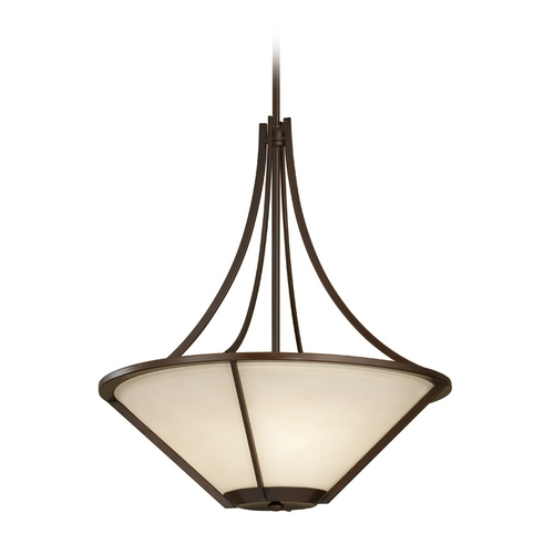 Feiss Lighting Modern Pendant Light in Heritage Bronze Finish F2673/3HTBZ