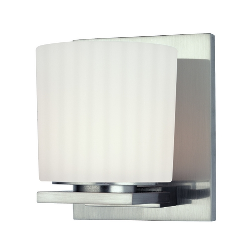 Hudson Valley Lighting Modern Sconce with White Glass in Old Bronze Finish 7741-OB