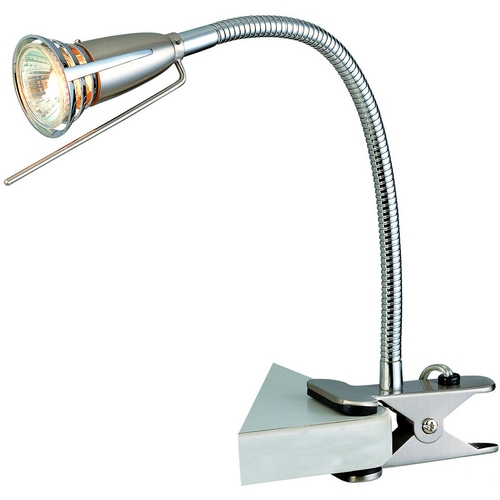 Lite Source Lighting Lite Source Lighting Seeker Polished Steel Clamp Desk Lamp LS-156PS
