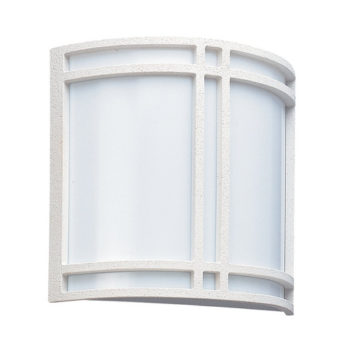 Sea Gull Lighting Modern Outdoor Wall Light with White Acrylic in White Finish 89060BLE-15