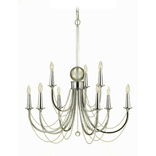 AF Lighting AF Lighting Shelby 9-Light Chandelier in Chrome 7702-9H