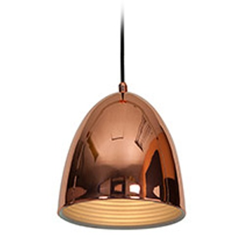 Access Lighting Copper Dome Small Pendant 28090-SCP KIT WITH LED LAMP