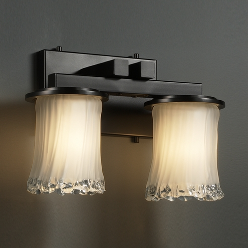 Justice Design Group Justice Design Group Veneto Luce Collection Bathroom Light GLA-8772-16-WTFR-MBLK