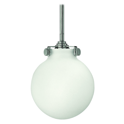 Hinkley Lighting Mini-Pendant Light with White Glass 3133CM