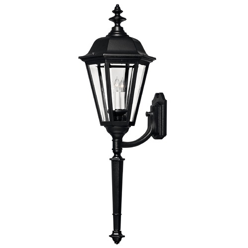 Hinkley Outdoor Wall Light with Clear Glass in Black Finish 1470BK