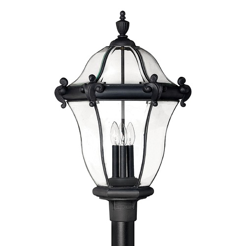 Hinkley Lighting Post Light with Clear Glass in Museum Black Finish 2447MB