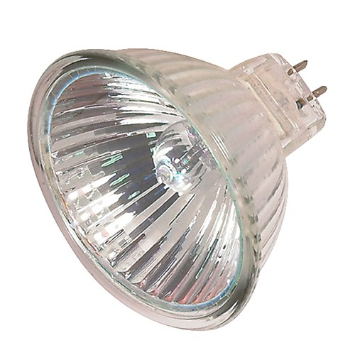 Satco Lighting MR-16 Halogen Light Bulb 2 Pin Spot 10 Degree Beam Spread 2900K 12V Dimmable S2640