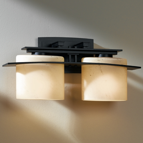 Hubbardton Forge Lighting Hubbardton Forge Lighting Ellipse Dark Smoke Bathroom Light 207522-07-H182