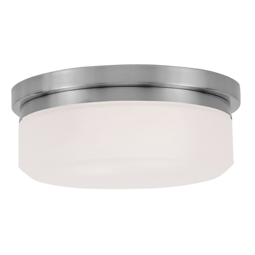 Livex Lighting Livex Lighting Isis Brushed Nickel Flushmount Light 7391-91