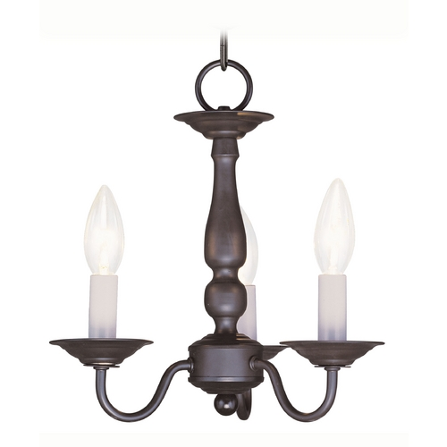 Livex Lighting Livex Lighting Williamsburg Bronze Mini-Chandelier 5009-07