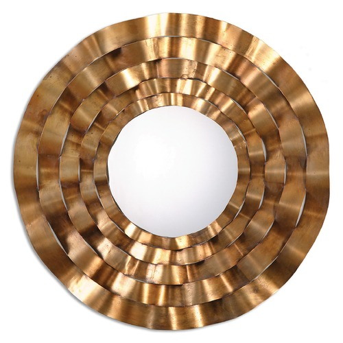 Uttermost Lighting Uttermost Follonica Antiqued Gold Round Mirror 12915