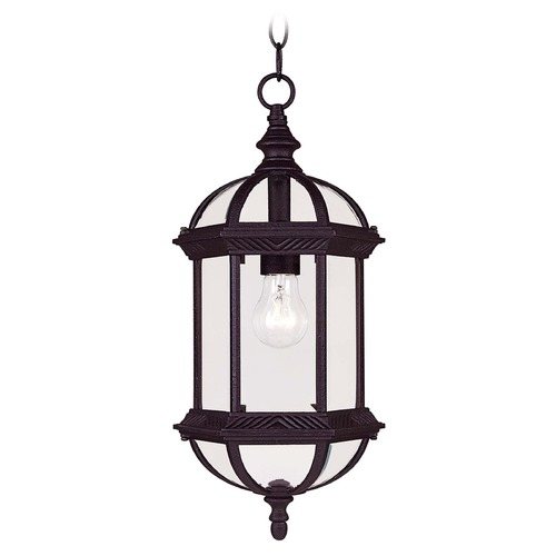 Savoy House Savoy House Textured Black Outdoor Hanging Light 5-0631-BK