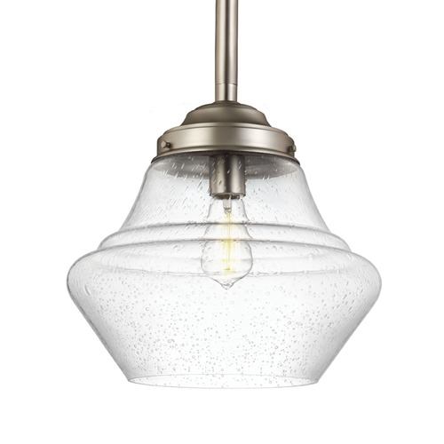 Feiss Lighting Feiss Lighting Alcott Satin Nickel Pendant Light P1409SN
